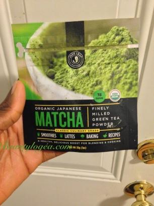 Matcha powder organic green tea (multipurpose: for smoothies, baking and skincare)